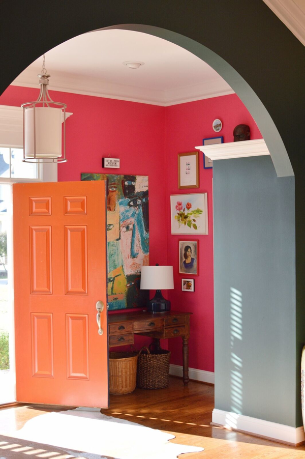 Before and After: A Foyer Refresh With Paint- design addict mom