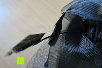 Feder: Valdler Damen Fascinator Hut Mini-Hut Blumen Tüll Netz Fasching Haarschmuck