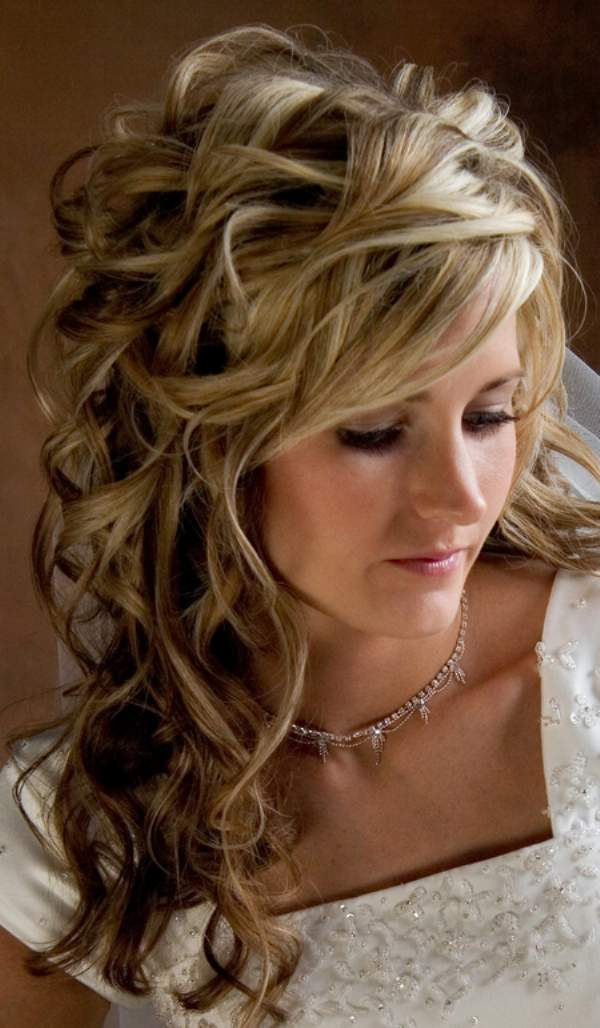 a new life hartz: Wedding Hairstyles Half Up