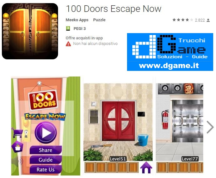 Soluzioni 100 Doors Escape Now di tutti i livelli | Walkthrough guide