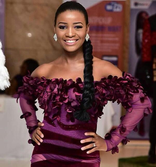 Photos: Actress Tomi Odunsi steps out in a daring, see-through dress at Eloy Awards