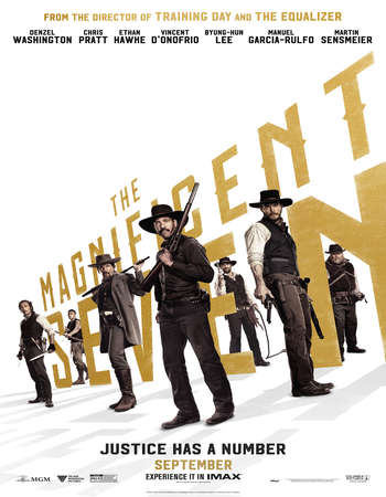 Poster Of The Magnificent Seven 2016 English 700MB HDCAM x264 Free Download Watch Online