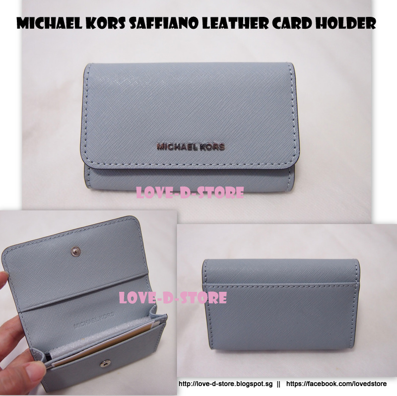 66ffb9a87eea love-d-store: Michael Kors Jet Set Travel Saffiano Leather Card Holder