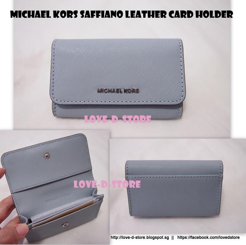 9a888b1e8b3e love-d-store: Michael Kors Jet Set Travel Saffiano Leather Card Holder