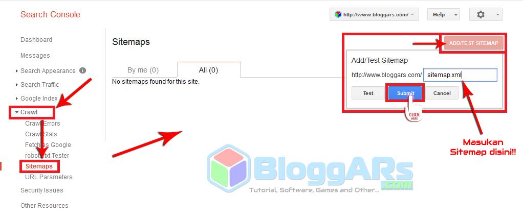 Baca Ya : Cara Menambahkan Sitemap Di Google Webmaster Tools