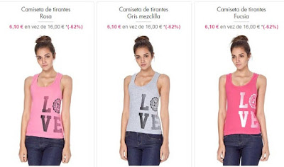 camisetas tirantes oferta