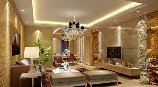 Desain Ruang Keluarga Mewah