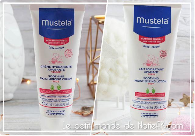 Lait et crème hydratante apaisante  de Mustela