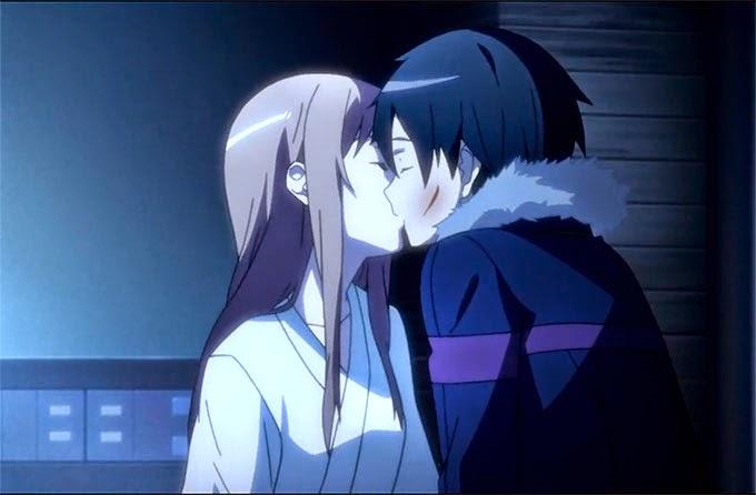 Asuna X Kirito kiss - Sword Art Online
