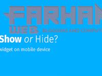 Menyembunyikan atau Menampilkan Widget di Mobile Device