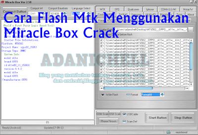 Cara Flash Mtk Menggunakan Miracle Box Crack