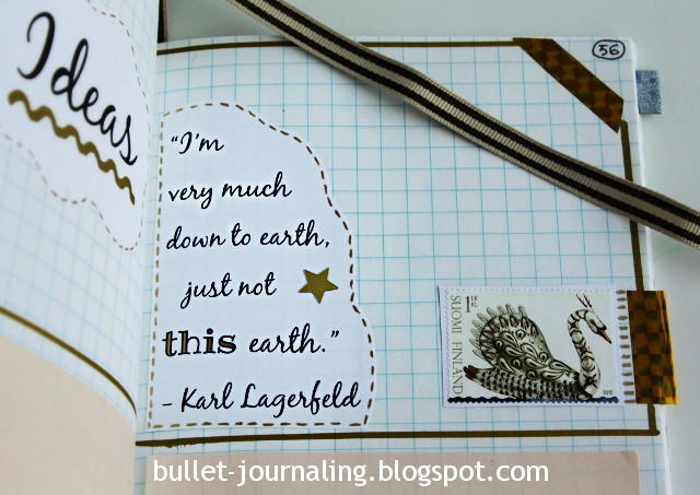 Karl Lagerfeld quote in bullet journal