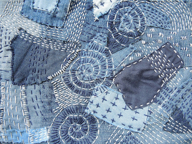 sashiko naaien sewing denim indigo blue diy