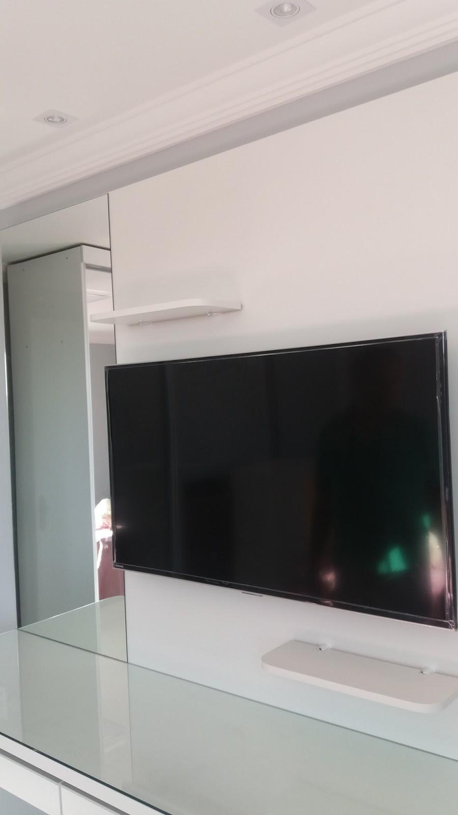 Penteadeira Mdf Branco Com Painel Tv Motta Arm Rios Planejados Ltda ~ Painel De Tv Para Quarto Planejado