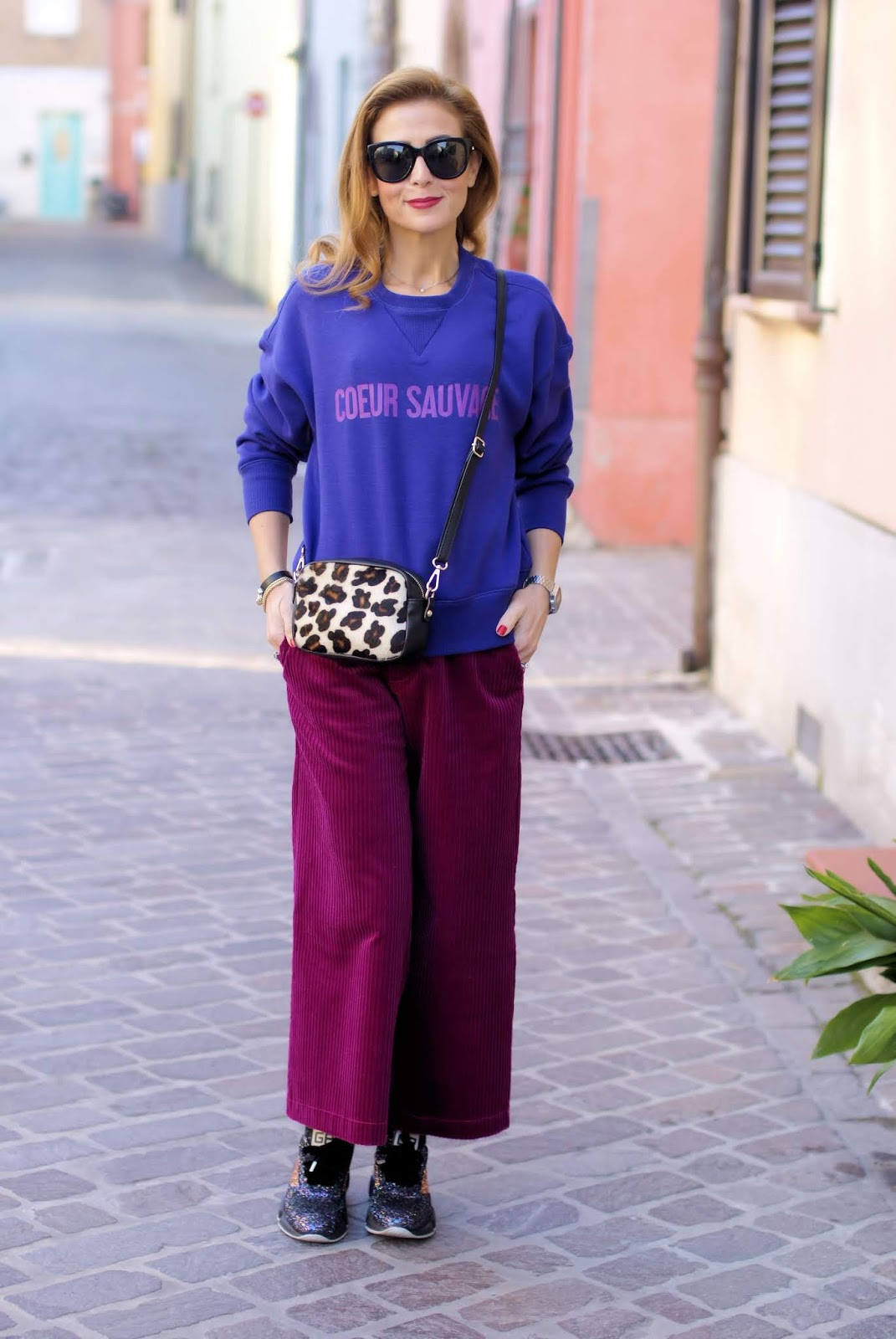 How to wear ribbed velvet trousers on Fashion and Cookies fashion blog, fashion blogger style