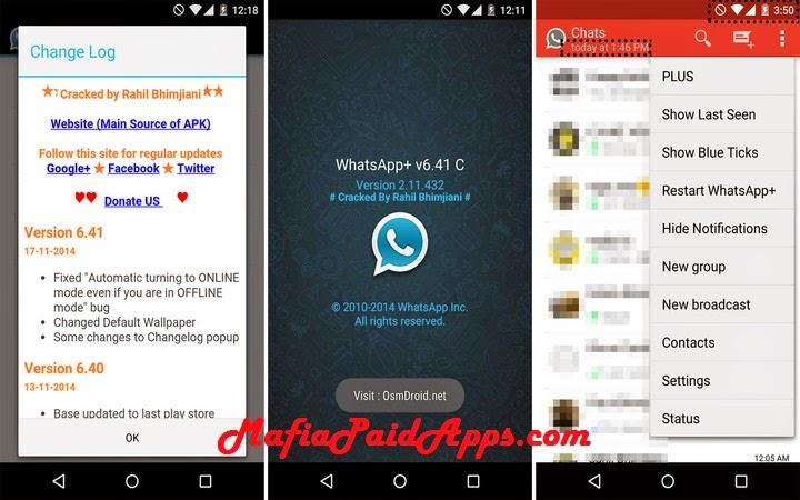 Whatsapp+ v6 41C Patched Apk   MafiaPaidApps com   Download Full