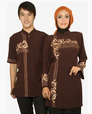 Model Baju Muslim Couple Lebaran