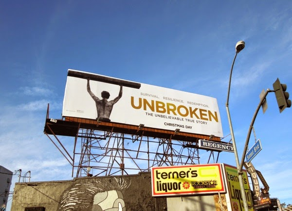 Unbroken movie billboard