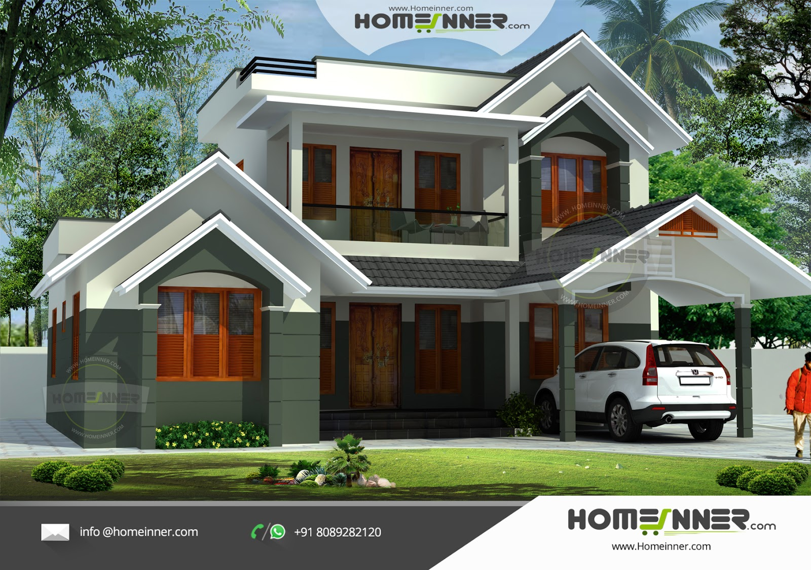 Indian Small Farmhouse plan 3 Bhk Kerala House Design penting