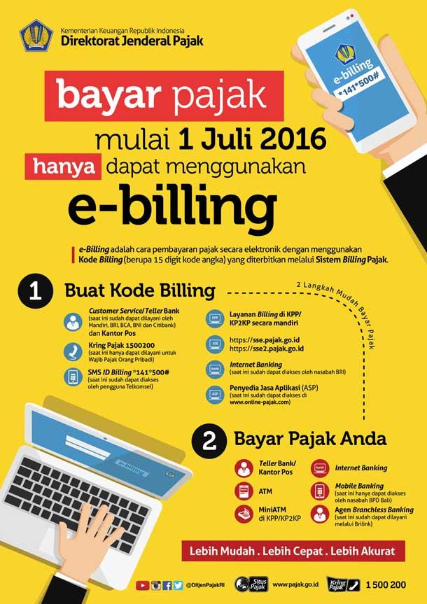 Cara Bayar Pajak dengan eBilling