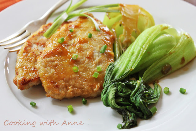 Orange Pork Cutlets and Baby Bok Choy