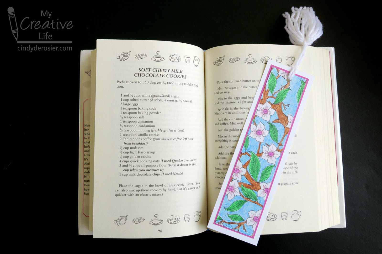 Cindy Derosier My Creative Life Bookmarks From A Coloring Page
