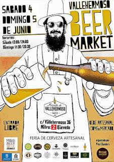 Vallehermoso Beer Market Craft Beer Madrid dorado y en botella