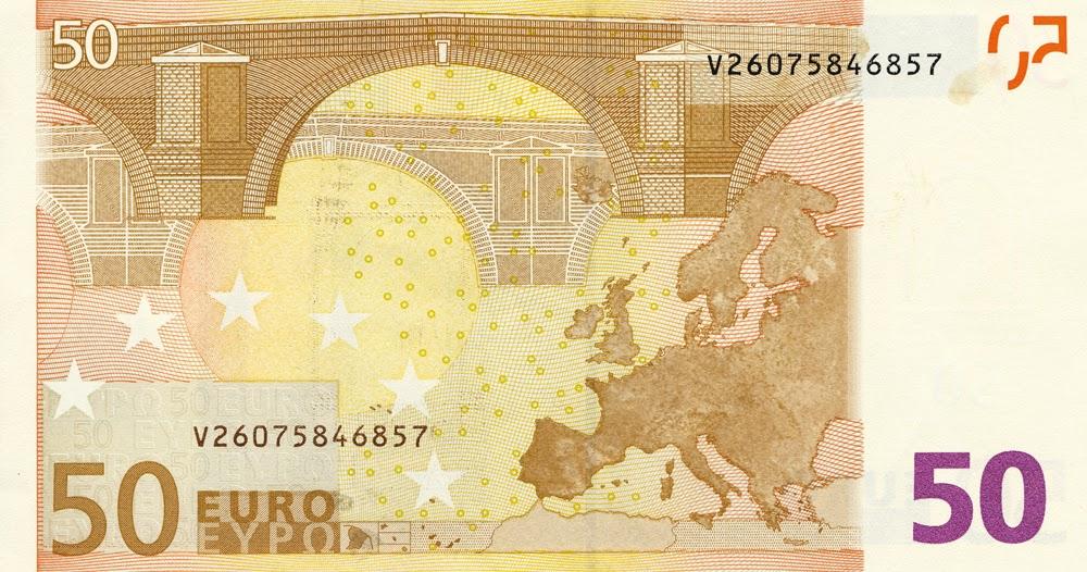 Sunya las matem ticas de los billetes en euros for Sofas por 50 euros