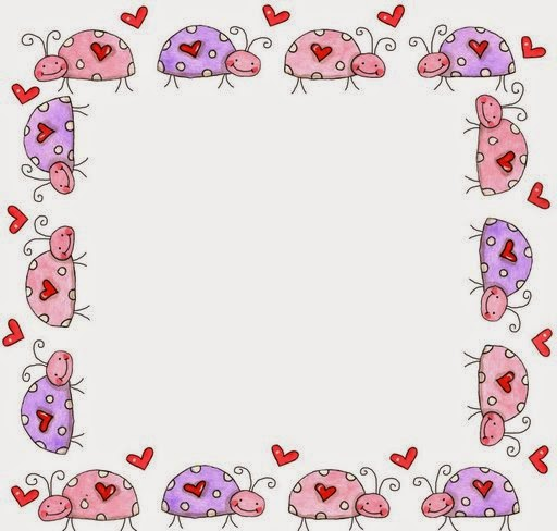 photo relating to Free Printable Borders and Frames named Ladybugs: Cost-free Printable Borders, Frames or Labels. Oh My