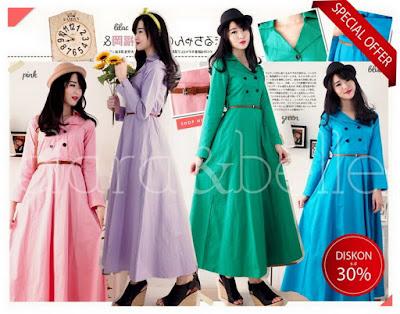 coat maxi dress flare gamis payung umbrella baju impor korea murah