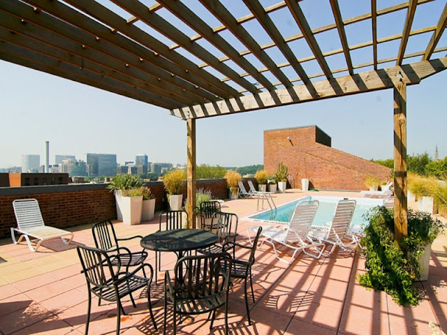 Photo of rooftop terrace with the pool