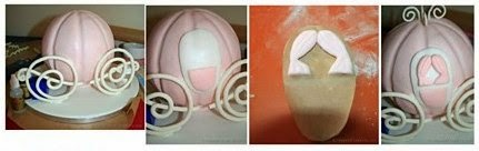 Instructions to make a Cinderella carriage cake.