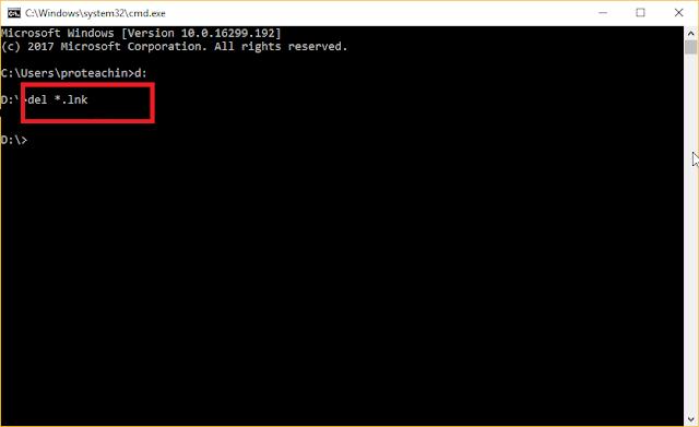 الحل النهائي لمشكلة فيروس إختصار الملفات Shortcuts بدون برامج