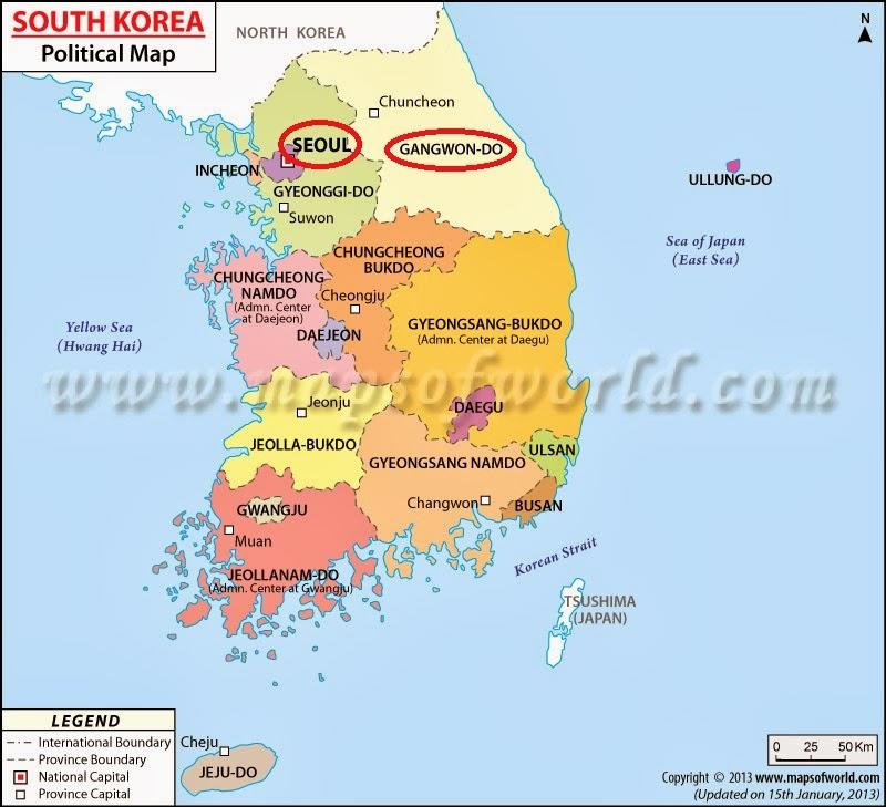 Pyeongchang South Korea Map