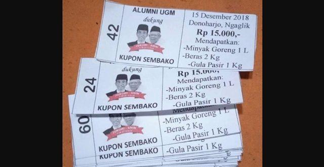 Alumni UGM Pendukung Jokowi Gelar Baksos, Warga Dapat Kupon Sembako