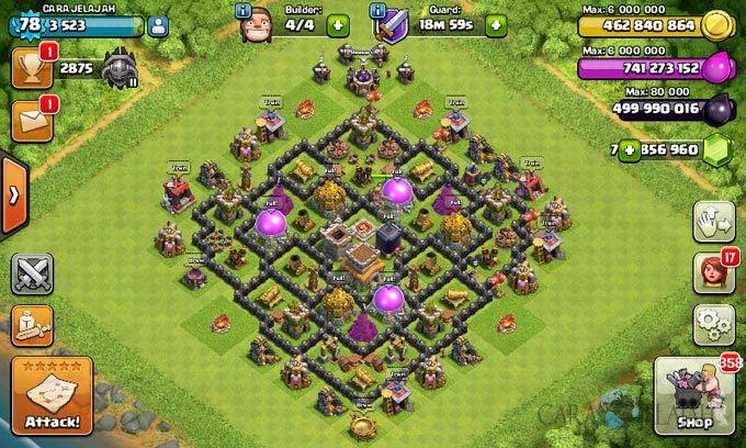 Susunan Formasi Base War TH 8 Update Terbaru 22