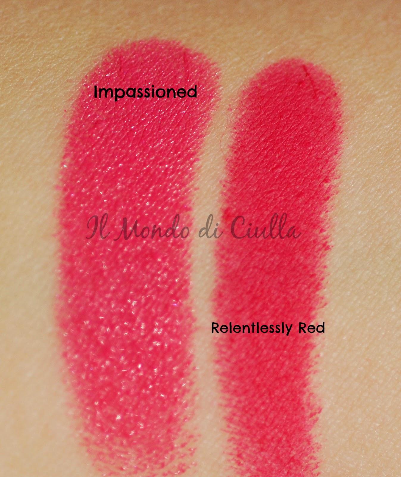 spesso Impassioned VS Relentlessly Red by MAC: rossetti a confronto! ~ Il  OC77