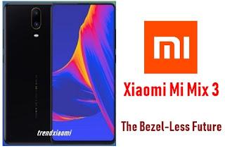 Nama tipenya hampir menyerupai dengan ponsel xiaomi Mi Max Hape Xiaomi Mi Mix series
