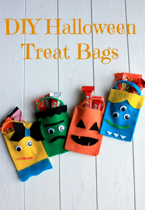 Scare up some silly fun this Halloween with these easy to make treat bags!   87355d280b9e