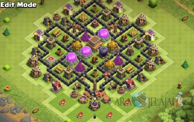 Base Hybrid TH 8 Clash Of Clans Terbaru Tipe 10