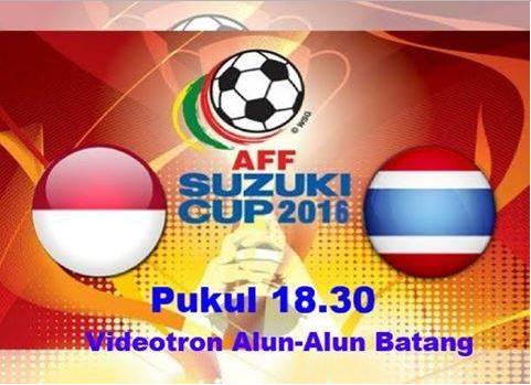 Nobar Final Piala AFF Indonesia Vs Thailand di Alun-alun Batang