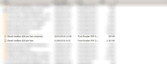 Hasil Memperkecil Ukuran File PDF Offline dengan Microsoft Word