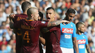 Napoli gana 2 a 1 a la Roma