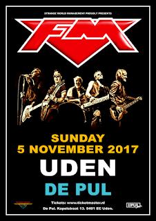 FM live at Uden De Pul - 5 November 2017 - poster