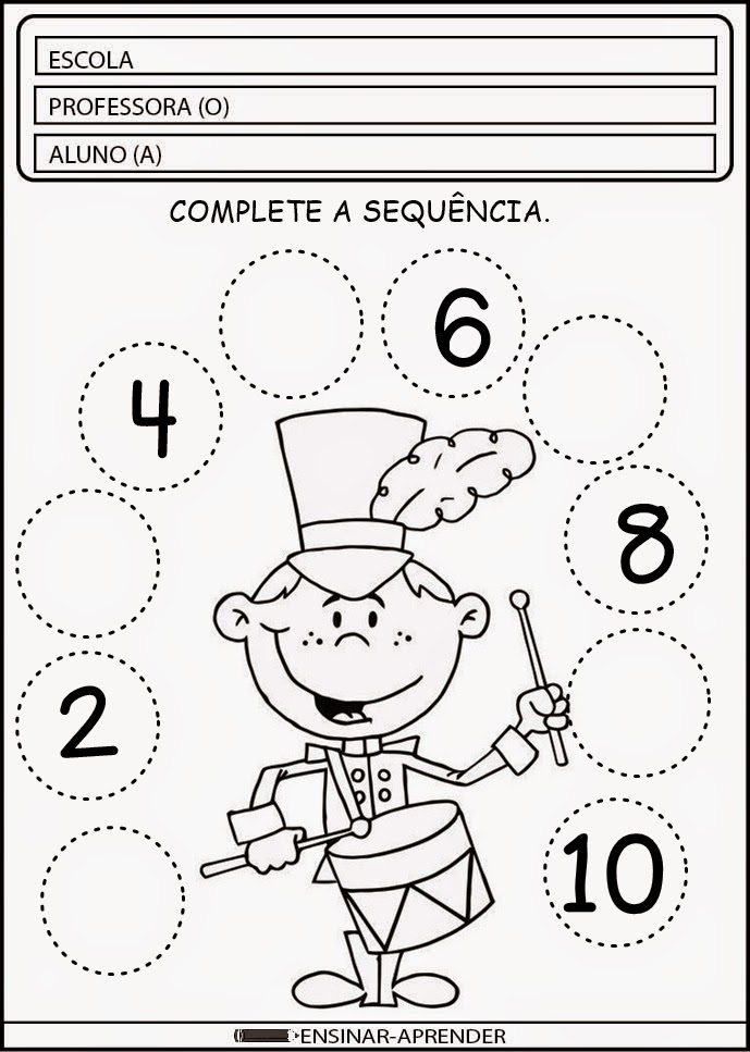 A Arte de Ensinar e Aprender POČTY Pinterest Math - printable preschool worksheet