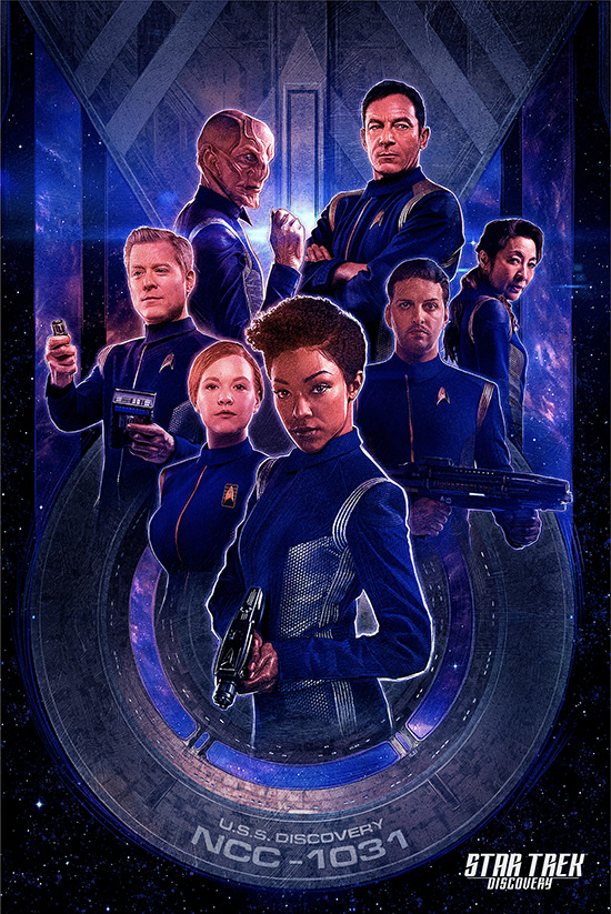CoolArt Star Trek Discovery Prints By Paul Shipper