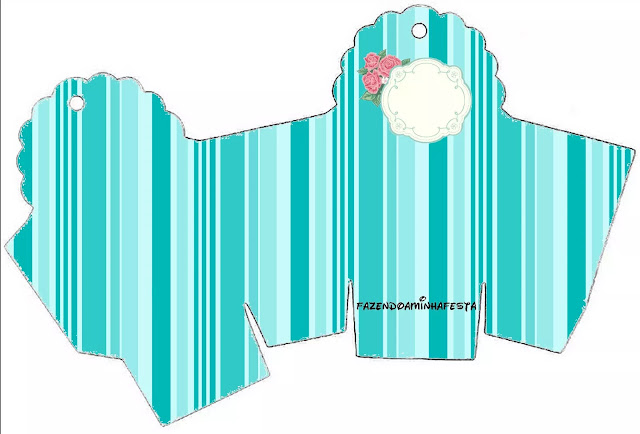 Tiffany with Roses: Free Printable Boxes.