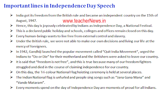 Independence Day Speech in Telugu, Hindi, English