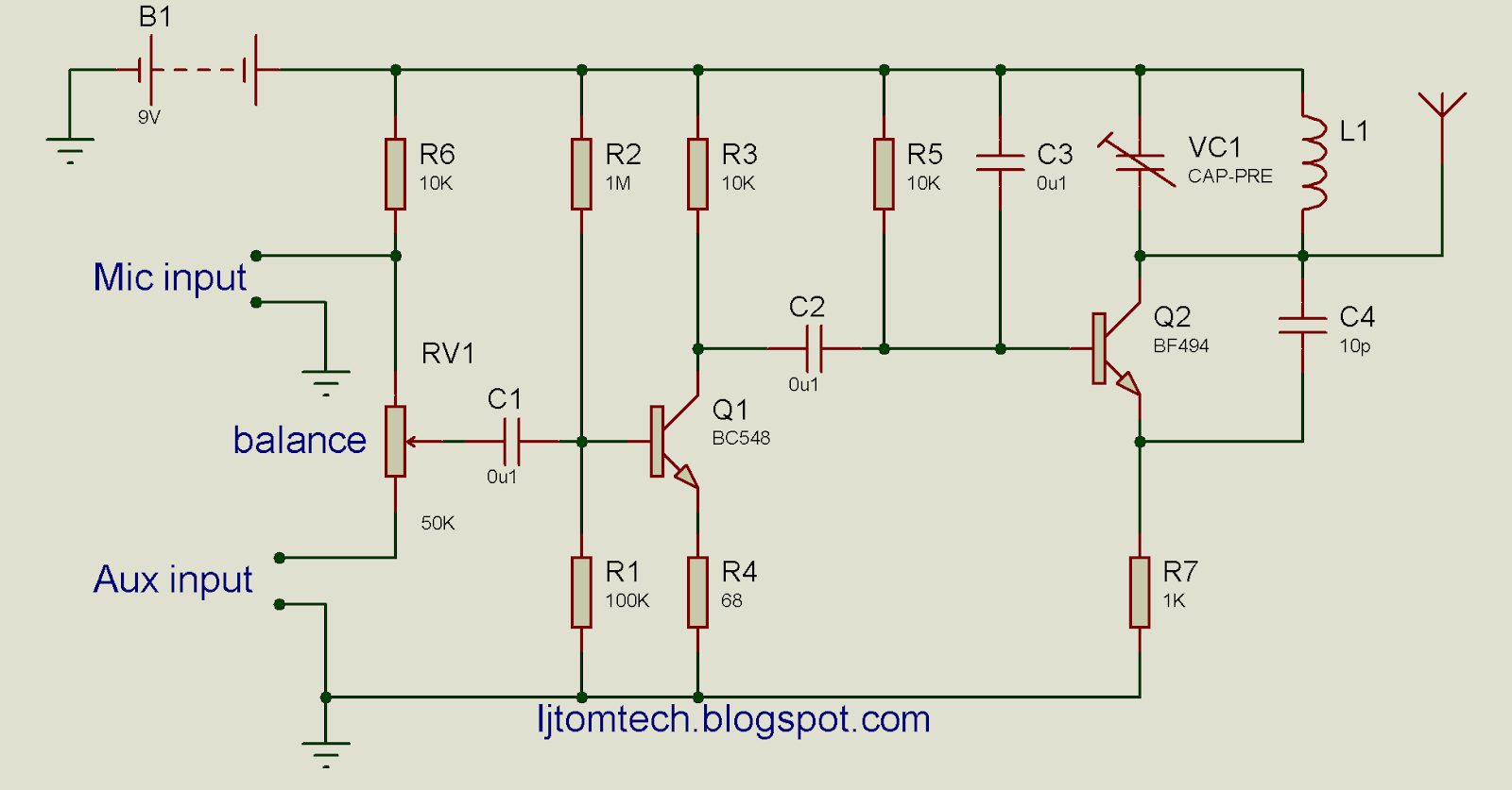 Pnp Transistor Fm Transmitter Circuit Wiring Library Fmstereotransmitterba1404hifi Of Stereo Hi Ramsey 25 Ba1404 With Diagram