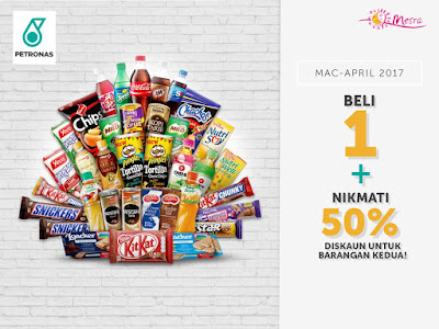 PETRONAS Brands Kedai Mesra 2nd Item Half Price Discount Promo